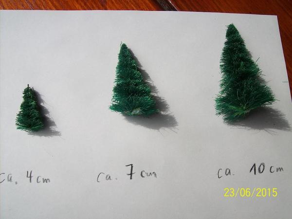 Modelleisenbahnzubehör Tannenbäume