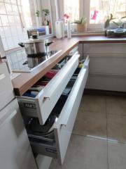 Moderene Küche U-Form inkl. E-Geräte, Hochglanz sepiabeige in ... | {Küche kaufen u form 38}
