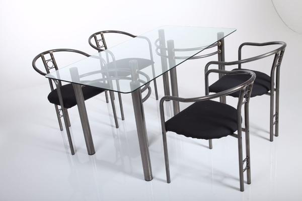 Moderner Glas Esszimmer Tisch ohne