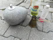 Öllampe aus Granit Lampenöl