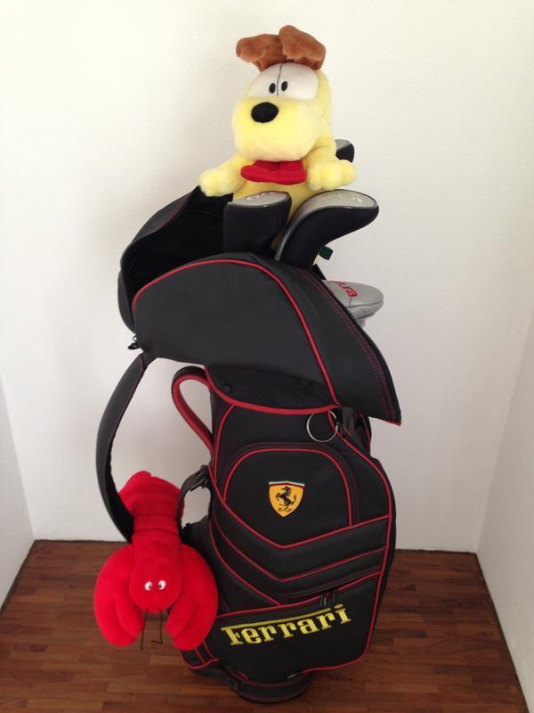 Original Ferrari-Golfbag Top-Zustand Seltene Gelegenheit