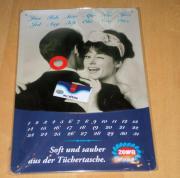 OVP Werbeschild Blech Jahreskalender Zewa