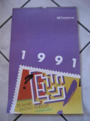 Postdienst Kalender von 1991 mit