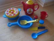 Puppengeschirr Küchenset 9 teilig