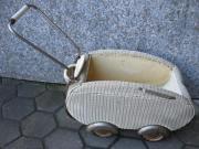 Rarität Korb-Puppenwagen aus Großmutters Zeit
