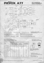 REVOX A77 Schaltplan