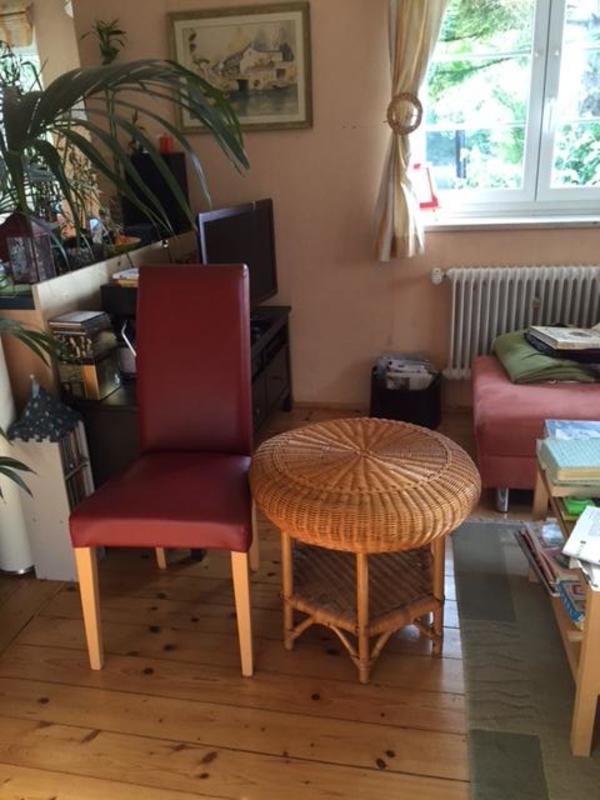 runder couchtisch beistelltisch aus rattan honigfarben in m nchen couchtische kaufen und. Black Bedroom Furniture Sets. Home Design Ideas