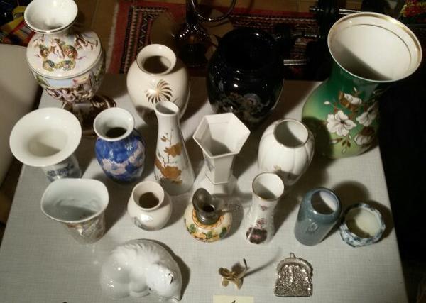 Sammlung von Vasen Porzellan