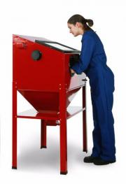 Sandstrahlkabine 220 liter Standmodell Strahlkabine -