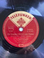 Schellack Platten mit deutschen Schlagern