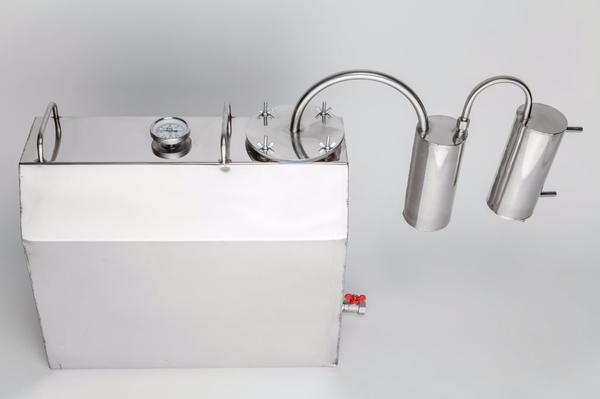 Schnapsbrennen 45L - München - Volumen 45 Liter Kapazität von 3 Litern pro Stunde Material- Lebensmittelstahl Ist mit einem Thermometer, einem Schlauchadapter auf das Ventil Perfekte Lösung für hausgemachten Schnaps. Die Bestellung dieser Alkohol distiller können Sie bit - München