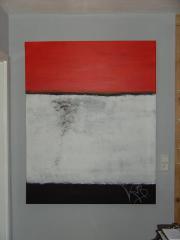 schönes Gemälde black red