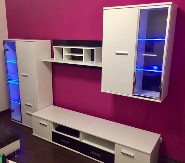 schrankwand wei gebraucht kaufen nur 2 st bis 70 g nstiger. Black Bedroom Furniture Sets. Home Design Ideas