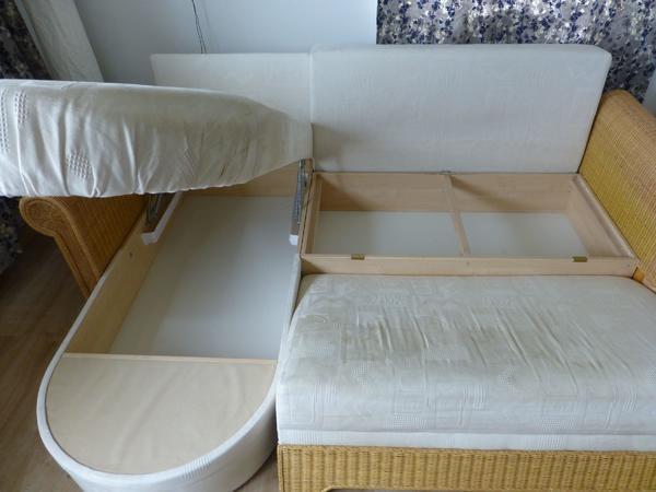 segm ller rattan couch mit recamiere in aying polster sessel couch kaufen und verkaufen ber. Black Bedroom Furniture Sets. Home Design Ideas