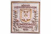 Siegerfliese zum Blumenschmuckwettbewerb München 1941