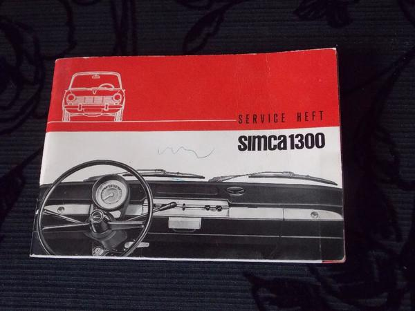 Simca 1300 Original Betriebsanleitung