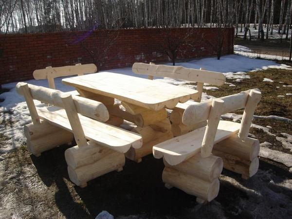 sitzgruppe bänke gartenmöbel handarbeit garten massivholz, Gartenarbeit ideen