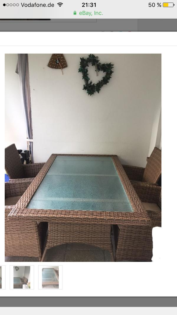 rattan sitzgruppe neu und gebraucht kaufen bei. Black Bedroom Furniture Sets. Home Design Ideas
