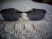 Sonnenbrille, schwarzes Gestell