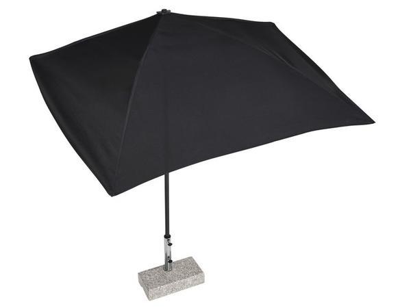 sonnenschirm schwarz rechteckig halbrund in st wendel sonstiges f r den garten balkon. Black Bedroom Furniture Sets. Home Design Ideas