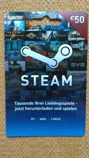 Steam Guthabenkarte 50