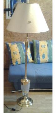Stehlampe mit kristallglas
