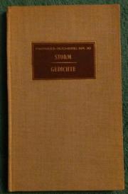 STORM - GEDICHTE - PARNASS