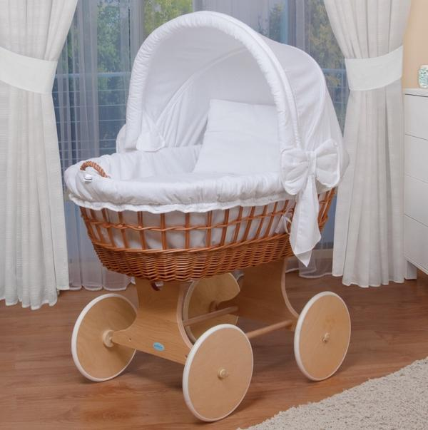 stubenwagen bollerwagen xxl wei wie neu in mannheim wiegen babybetten reisebetten. Black Bedroom Furniture Sets. Home Design Ideas