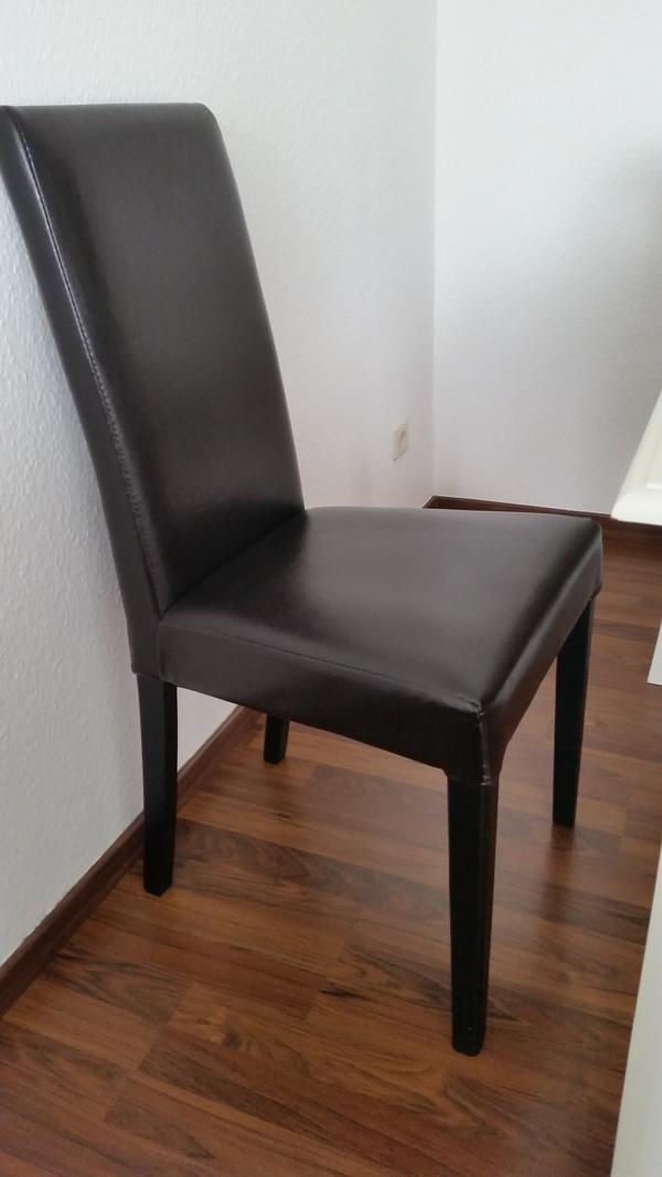 stuhl braun leder m belideen. Black Bedroom Furniture Sets. Home Design Ideas