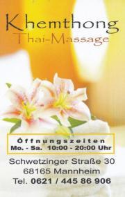 Thai massage schwetzingen
