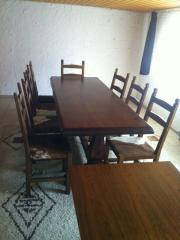 Tischgruppe massives Echtholz