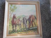 tolles Pferde-Ölbild