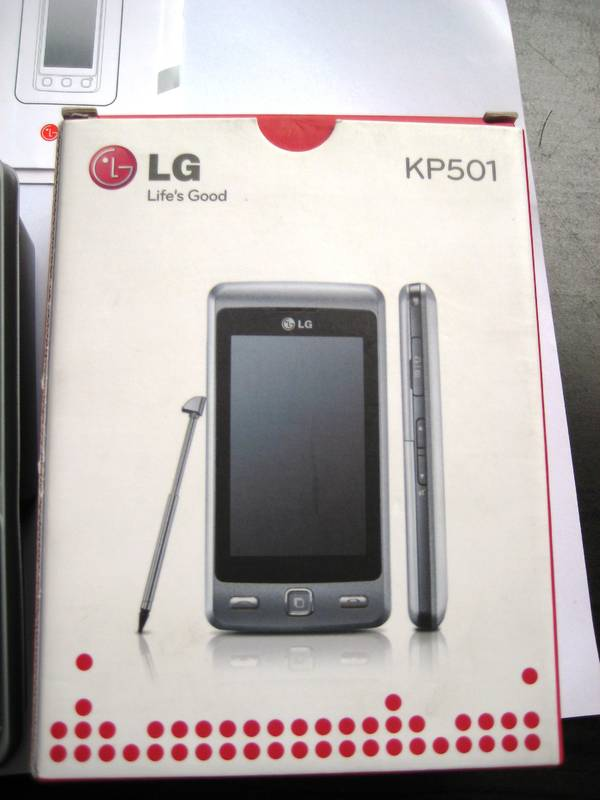 Touchscrenn-Handy LG KP501