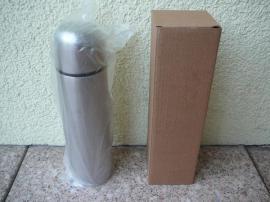 Haushaltsauflösungen - Verkaufe Isolierflasche Farbe silber aus