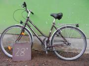 Verschiedene Fahrräder alt