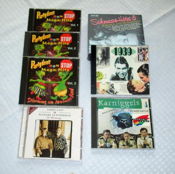 verschiedene Musik CDs
