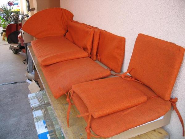 Vintage,Deko,Sitzpolster Original 70Er,Orange,Eckbank U. Stuhl