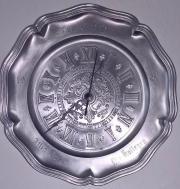 Wanduhr Zinnteller Uhr