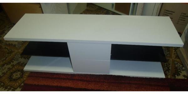 Fernsehtisch modern  weißer Fernsehtisch, modern, 120 cm lang, 35 cm breit, 38 cm hoch ...