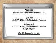 Wellnessmasseur / in Intensivkurs