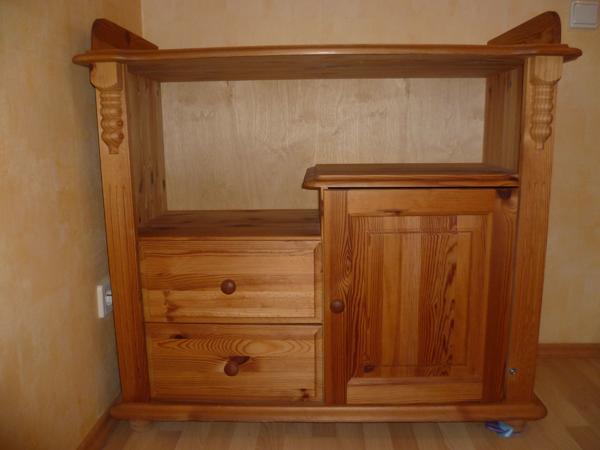 kiefer massiv geolt gebraucht kaufen nur 4 st bis 65. Black Bedroom Furniture Sets. Home Design Ideas