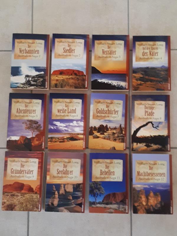 William Stuart Long - Australien-Saga, Band 1-12 - Neuwied - Zum Verkauf steht hier die komplette Taschenbuchreihe der Australien-Saga (Band 1-12). Alle Bücher sind einmal gelesen und in einem sehr guten Zustand, aus einem Nichtraucher-Haushalt. William Stuart Long ist ein Pseudonym der US-amerikanischen - Neuwied