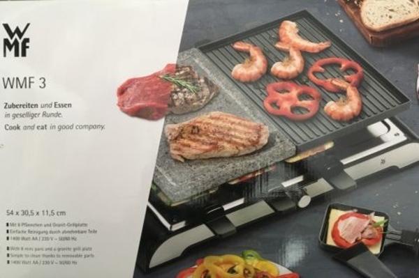 wmf 3 raclette tischgrill in heppenheim k chenherde grill mikrowelle kaufen und verkaufen. Black Bedroom Furniture Sets. Home Design Ideas
