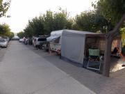 Wohnwagen Sonnenvordach.