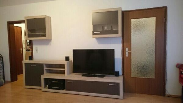 Gebraucht Wohnwand Schrankwand Wohnzimmer Eiche Mit Regal Kaufen 76534 Baden