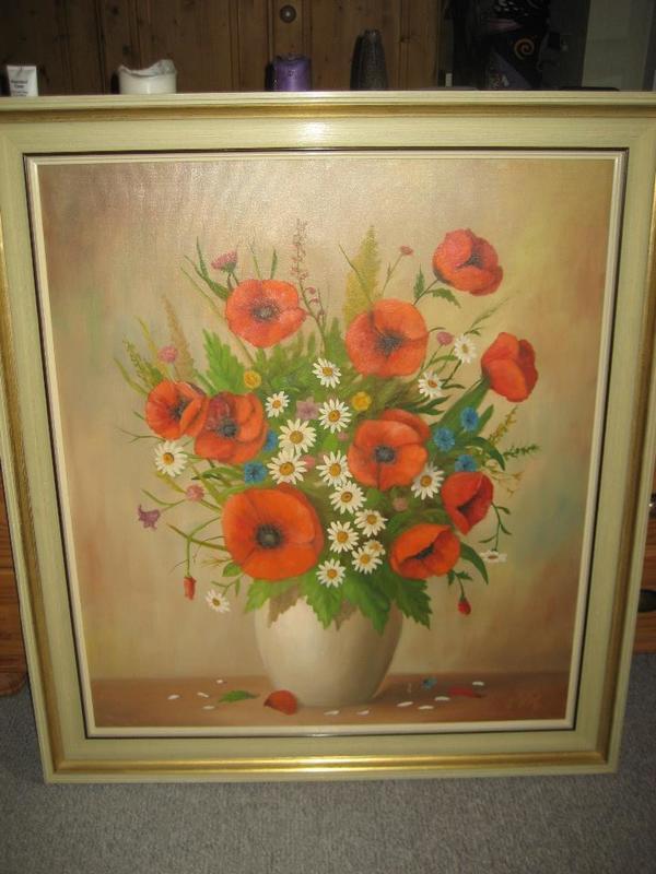 wunderschönes Bild Ölbild Blumen in